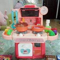 Bộ đồ chơi nhà bếp nấu ăn 26 món, 2 bếp có hiệu ứng ngọn lửa kèm nhạc, vòi xịt nước như thật (loại cao cấp)