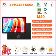 Hàng Mới Về | Máy Tính Bảng Teclast M40 Mới Hệ Điều Hành Andoid 10.0 6GB RAM 128GB ROM 10.1 inch Camera Kép 8MP Có Thể Dùng 4G Bluetooth 5.0 UNISOC T618 Octa Core