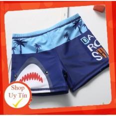 [Lấy mã giảm thêm 30%]✅ Quần bơi kèm mũ hoạ tiết cá mập dành cho bé trai