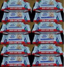 Set 7 gói khăn ướt Baby Wipes 80g Đỏ, Có mùi, siêu tiết kiệm
