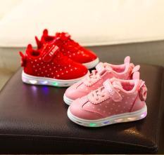 Giày thề thao bé gái có đèn 2-3 tuổi