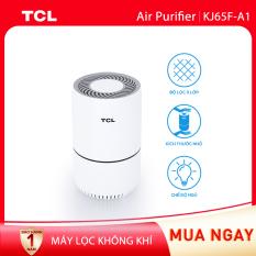 【Siêu lọc bụi bẩn】Máy lọc không khí TCL. Air Purifier KJ65F-A1 – Phòng 10m2 – Bộ lọc 3 lớp lên đến 2100 giờ, Tùy chỉnh tốc độ gió và đèn Led – Kích thước nhỏ gọn – Chế độ ban đêm và khóa trẻ em.