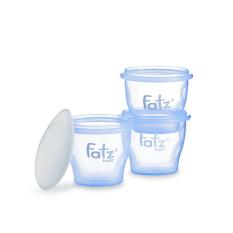 Hộp Trữ Thức Ăn Dặm FatzBaby FB0010N Cho Bé (Bộ 3 Hộp), Chất Liệu Nhựa Không Chứa BPA An Toàn Cho Bé,Dung Tích 85ML