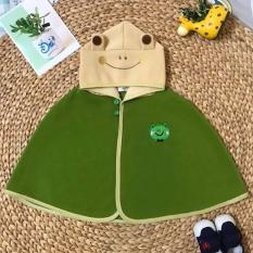 Áo choàng hình ếch màu xanh rêu – trai gái đều mặc được