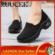 Giày Thể Thao Nữ Thời Trang Zuupee Lưới Giày Đế Cao Giày Đệm Khí Giải Trí Giày Nữ Cỡ Lớn 35-42