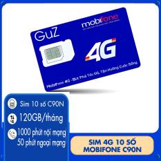 Sim 4G 10 số Mobifone C90N Mỗi tháng Tặng 120GB +Miễn phí gọi nội mạng + 50p gọi ngoại mạng