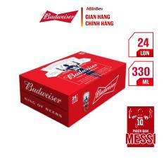 Thùng 24 lon cao Budweiser (330ml/lon) – Phiên bản Messi