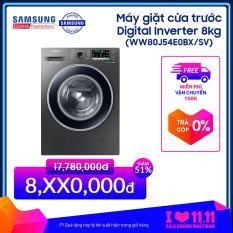 Máy giặt cửa trước Digital Inverter 8kg WW80J54E0BX (Xám) – Hãng phân phối chính thức, tiết kiệm điện
