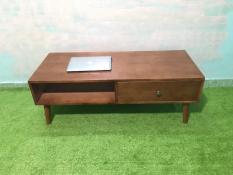 BSF – Bàn sofa hình hộp gỗ cao su có hộc kéo T619-5 KT120x50x43, bàn trà, bàn cafe, cà phê, coffee, bàn gỗ phòng khách