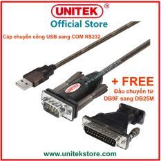 [UNITEK STORE] Cáp chuyển đổi USB to RS232 (USB to COM) 1m5 Cable Unitek Y-105A