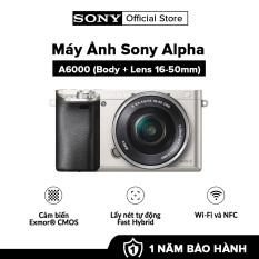 [VOUCHER 999K – HÀNG CHÍNH HÃNG – TRẢ GÓP 0%] Máy Ảnh Sony Alpha A6000 + 16-50mm Bộ xử lý hình ảnh: BIONZ X Cảm biến: APS HD (kèm thẻ nhớ và túi máy ảnh)