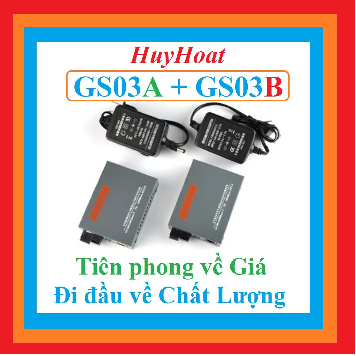 Bộ Chuyển Đổi Quang Điện Netlink HTB GS 03 AB tốc độ cao Gigabit 1000Mbps
