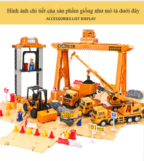 Bộ mô hình đồ chơi công trường, cảng biển có lắp ghép cho bé phát triển trí tưởng tượng, trí tuệ chất liệu nhựa an toàn
