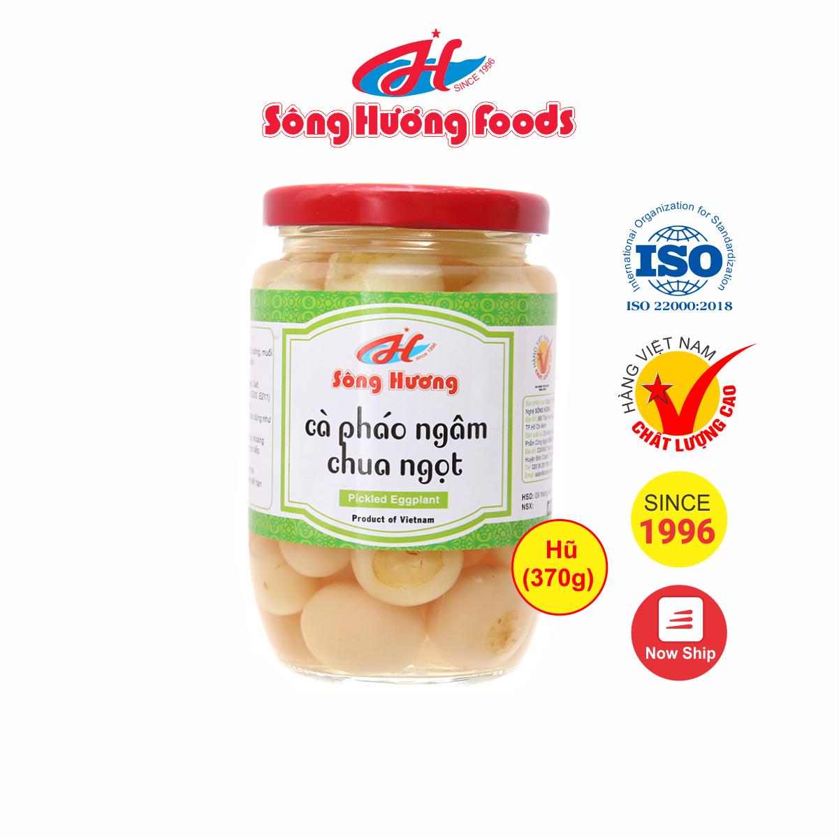 Cà Pháo Muối Ngâm Chua Ngọt Sông Hương Foods Hũ 370g