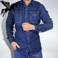 Áo sơ mi nam Denim cao cấp vải Jean co giãn Không Ra Màu, Không Xù Lông có size từ 45 – 85kg [BẢO HÀNH 2 THÁNG]