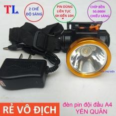 Đèn Led Đội Đầu Siêu Sáng A4 Pin Sạc – ánh sáng trắng,vàng siêu sáng,đèn pin đội đầu