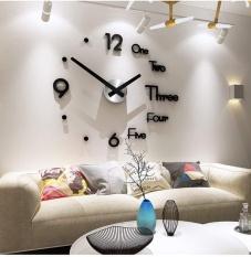 Bộ Đồng Hồ Dán Tường , đồng hồ Treo Tường 3D Sang Trọng Kiểu Châu Âu DIY- đồng hồ trang trí nghệ thuật – Đảm Bảo Chất Lượng