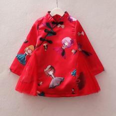 [bấm lik xem video]váy cổ tàu cho bé gái từ 10kg đến 20kg