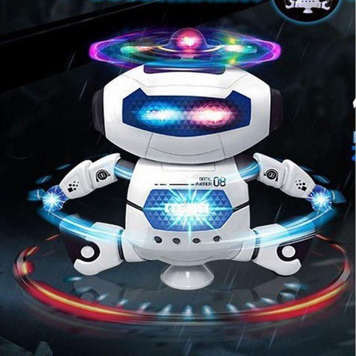 Đồ Chơi ROBOT Xoay 360 độ Robot Xoay 360 Độ- Robot Nhảy Múa Theo Nhạc Robot Xoay 360 Độ cho...