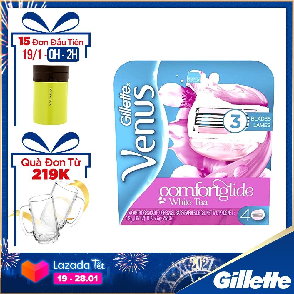 [19-28.01 Tặng Set 2 ly bia Tết đơn Gillette từ 219k] Lưỡi dao cạo cho nữ Gillette Venus Spa ( 4 lưỡi/vỉ )