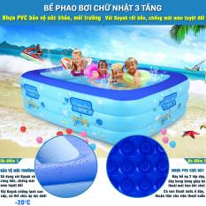 [1,5m] Bể bơi phao, hồ bơi phao, bể bơi thành cao cho bé – Bể có khả năng chứa nước ấm và nước lạnh, dễ dàng quan sát và bảo đảm an toàn cho các con khi vui chơi. 7 ngày bảo hành đổi mới