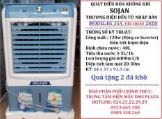 Quạt điều hòa hơi nước SOJAN model: HS35A KÍNH Model: 2020
