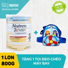 Sản phẩm dinh dưỡng y học Nutren Junior cho trẻ từ 1-10 tuổi 800g + Tặng 1 túi đeo chéo máy bay