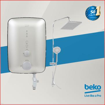Máy nước nóng trực tiếp Beko BWI45S1D-242 – Có Bơm trợ lực – Công suất 4500W – Vòi sen dạng mưa – Hàng chính hãng bảo hành 3 năm