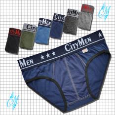 Quần lót nam CITYMEN cao cấp – Quần sịp nam tam giác (1 cái), vải cotton 100% mềm mại, co giãn, thấm hút tốt, lưng cao 4cm – Nhiều màu