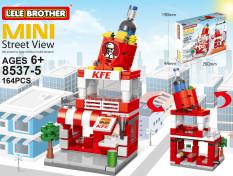 Đồ chơi lắp ráp, xếp hình lego phố nhỏ xinh Mini Street View Lele Brother 8537