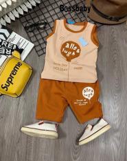 [HCM](Flash sale ) Bộ đồ bé trai allo&lunh siêu hót dành cho bé từ 6kg-29kg.DBBT33