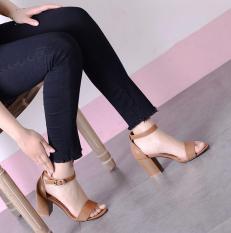 Giày cao gót quai ngang da gót sơn 7p Rosa