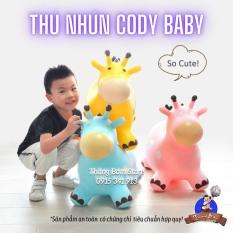 Thú Nhún Bơm Hơi Hình Con Hươu Cho Bé Yêu Cody Baby