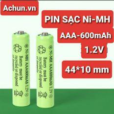 PIN SẠC Ni-MH AAA 600mAh – 1.2V/1.5V kích thước 44x10mm