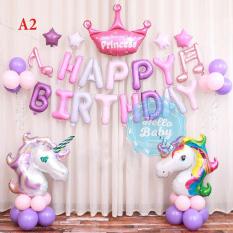 Set bóng trang trí sinh nhật chủ đề Ngựa Pony