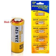 Vỉ 5 Pin Alkaline 12V 23A Điện áp 12V Thiết kế nhỏ gọn tiện dụng Tương thích tốt