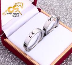 Nhẫn cặp đôi VK-CK ĐẸP & Ý NGHĨA (tặng hộp để nhẫn cực xinh) (số lượng 02 chiếc)