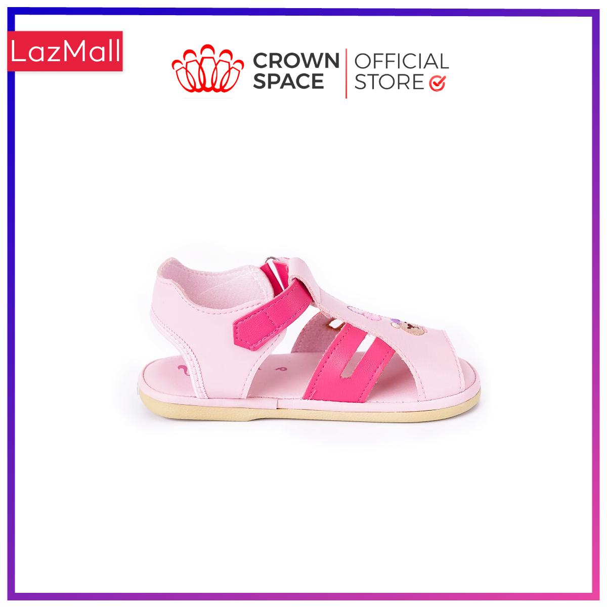 Xăng Đan Tập Đi Bé Trai Bé Gái Đẹp Crown UK Royale Baby Walking Sandals Trẻ em Cao Cấp 021482 Nhẹ Êm Size 3-6/1-3 Tuổi