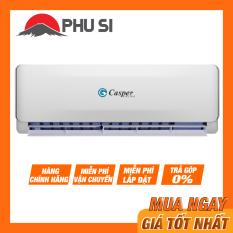 TRẢ GÓP 0% – BẢO HÀNH 3 NĂM – Máy Lạnh Casper EC-09TL22 , Công suất: 1HP – 9000BTU. Công nghệ giấc ngủ sâu, Bộ lọc khử mùi, kháng khuẩn Anti-Formaldehyde