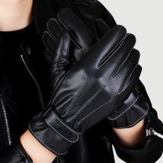 Găng tay da lót lông cảm ứng điện thoại smart phone – GT101