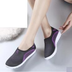 Giày thể thao nam siêu thoáng Sportmax SPM905626D OFF WHITE (Viền Trắng)