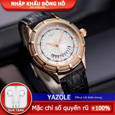 đồng hồ nam Casual YAZOLE – Thanh toán khi nhận hàng Chống xước Thời trang Siêu chống nước Đồng hồ cao cấp Quà tặng ngày lễ Kính khoáng Dây da [447]