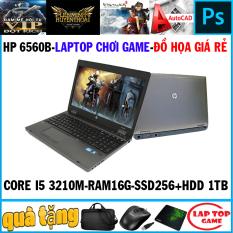 [Nhập ELMAR31 giảm 10% tối đa 200k đơn từ 99k]Laptop game+đồ họa -HP 6560B Core i5 2450M/ Ram 16G/ SSD 256G+ HDD 1TB/ Màn 15 inch Vỏ Nhôm) DÒNG MÁY BỀN BỈ CHẠY 24/24