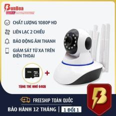 Camera IP Wifi 3 Râu Full HD 1080p Không Dây Phiên Bản Mới Nhất 2019 siêu nét