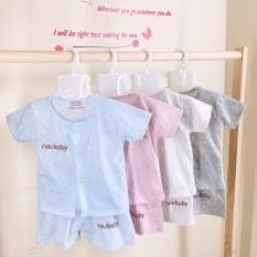 Bộ cộc tay nhiều màu cho bé trai, bé gái sơ sinh 3-12kg hàng đẹp