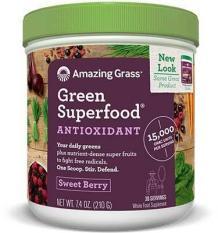 Bột siêu thực phẩm hữu cơ chống lão hoá Amazing grass hương dâu 210g