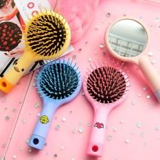 Lược kèm gương 2 trong 1 tiện lợi dành cho các bạn nữ – gương kèm lược chải tóc chống rối chống rụng tóc