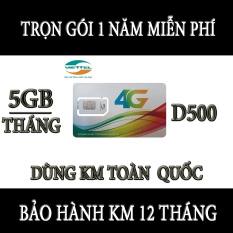 SIM 4G VIETTEL D500 vào mạng trọn gói 1 năm miễn phí không cần nạp tiền dùng cho dien thoai gia re,máy tính bảng,wifi,dcom-sim 4g viettel trọn gói 1 năm