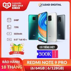 [9.9-11.9] [BẢN QUỐC TẾ] Điện thoại Xiaomi Redmi Note 9 PRO 6/64GB 6/128GB – Màn hình 6.67″ FULL HD+, Snapdragon 720G 8 nhân, Camera chính 64 MP, Camera trước 16MP góc siêu rộng, pin 5020 mAh sạc nhanh 30W – BH Chính hãng 18 tháng