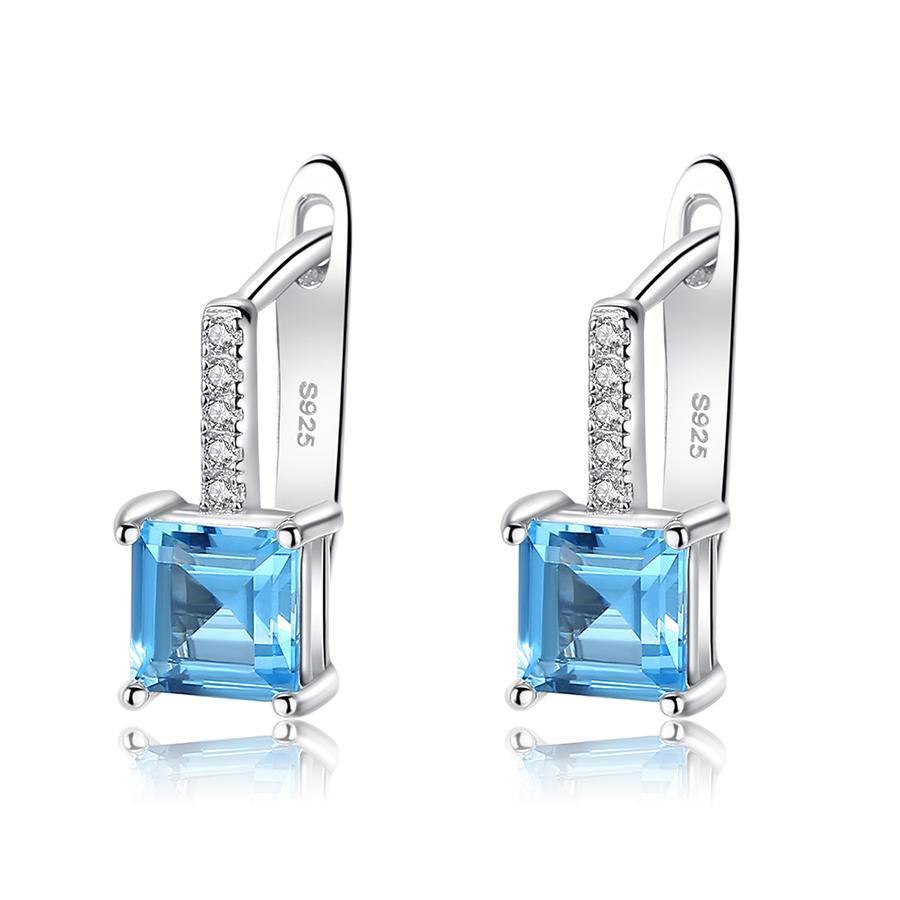 Bông tai bạc nữ Bông tai đính đá đẹp B2411 Bảo Ngọc Jewelry